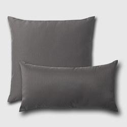 ULLKAKTUS - Bantal kursi, abu-abu tua, 30x58 cm