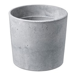 BOYSENBÄR - Plant pot, in/outdoor light grey