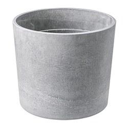 BOYSENBÄR - Plant pot, in/outdoor light grey