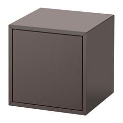 EKET - Cabinet with door, dark grey