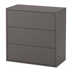 EKET - Cabinet with 3 drawers, dark grey