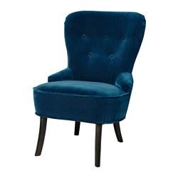 REMSTA - Kursi berlengan, Djuparp hijau-biru tua