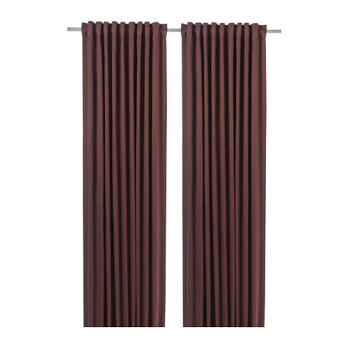 BLÅHUVA - block-out curtains, 1 pair, brown-red, 145x250 cm   IKEA Indonesia - PE756684_S4