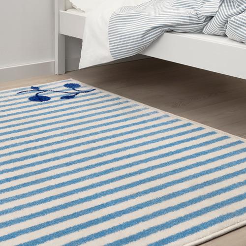 GULSPARV - rug, striped blue/white, 133x160 cm | IKEA Indonesia - PE710090_S4