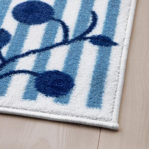 GULSPARV - rug, striped blue/white, 133x160 cm | IKEA Indonesia - PE710092_S4