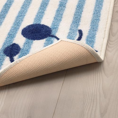 GULSPARV - rug, striped blue/white, 133x160 cm | IKEA Indonesia - PE710093_S4