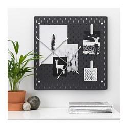 SKÅDIS - Kombinasi papan berlubang, hitam