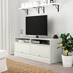 HAVSTA - TV bench with plinth, white