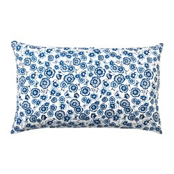 SÅNGLÄRKA - Bantal kursi, bunga/biru putih