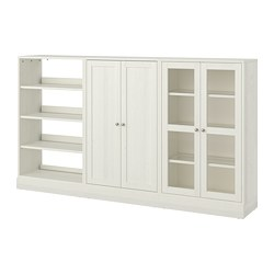 HAVSTA - Storage combination w glass-doors, white