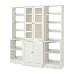 HAVSTA - Storage combination w glass doors, white