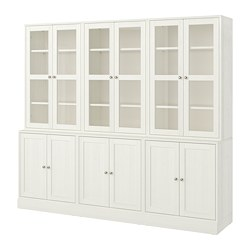HAVSTA - Storage combination w glass-doors, white