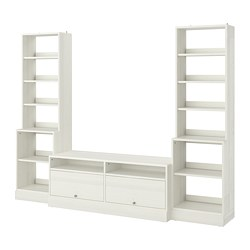 HAVSTA - TV storage combination, white