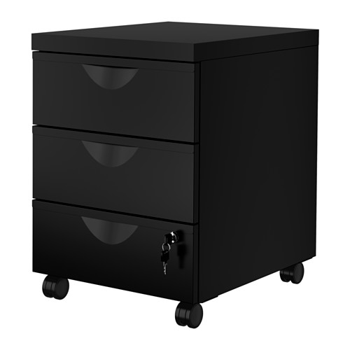 ERIK drawer unit w 3 drawers on castors
