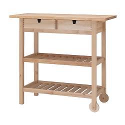 FÖRHÖJA - Troli dapur, kayu birch