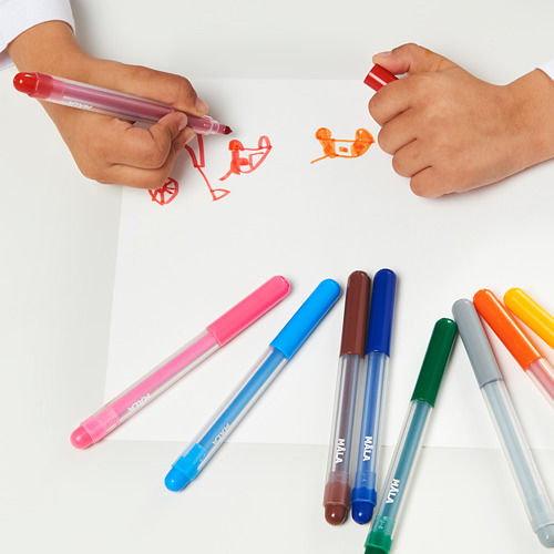 MÅLA - felt-tip pen, mixed colours | IKEA Indonesia - PE611164_S4