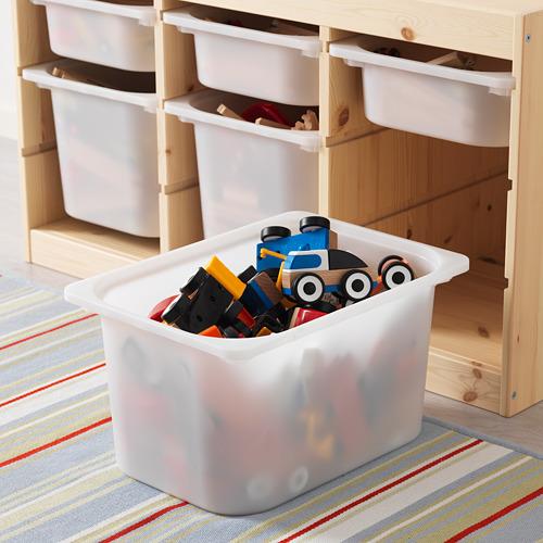 TROFAST - kombinasi penyimpanan dgn kotak, pinus diwarnai putih muda/putih, 94x44x53 cm   IKEA Indonesia - PE613465_S4