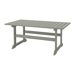 BONDHOLMEN - Coffee table, outdoor, grey stained
