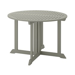 BONDHOLMEN - Table, outdoor, grey stained