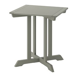 BONDHOLMEN - Table, outdoor, grey stained
