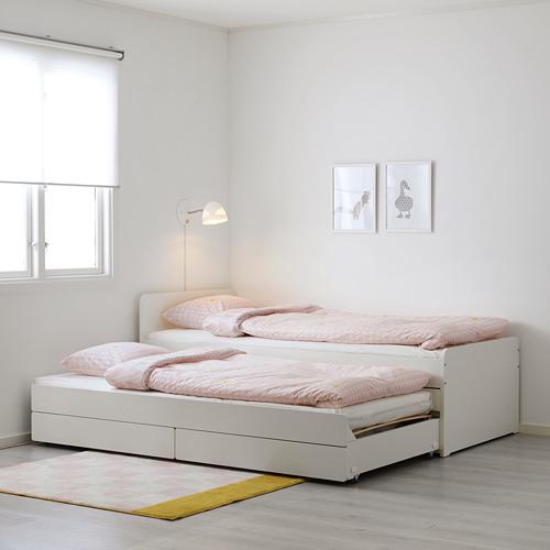 SLÄKT tempat tidur bwh dgn penyimpanan