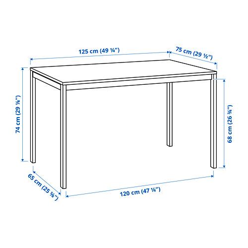 MELLTORP - table, white, 125x75 cm | IKEA Indonesia - PE813152_S4