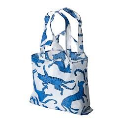 SKYNKE - SKYNKE, kantong belanja, berpola kucing/biru putih