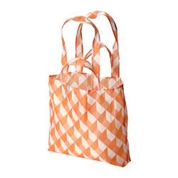 SKYNKE - SKYNKE, kantong belanja, putih/oranye