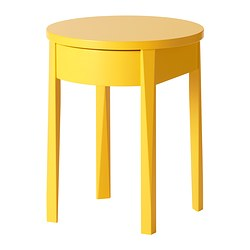 STOCKHOLM - Bedside table, yellow