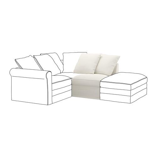 GRÖNLID - sarung untuk 1 bagian dudukan, Inseros putih   IKEA Indonesia - PE668608_S4