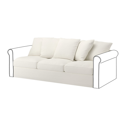 GRÖNLID - sarung untuk bagian 3 dudukan, Inseros putih | IKEA Indonesia - PE668610_S4