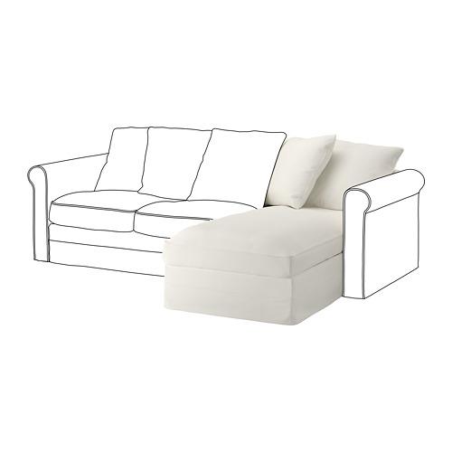 GRÖNLID - sarung untuk bagian sofa-chaise, Inseros putih | IKEA Indonesia - PE668612_S4
