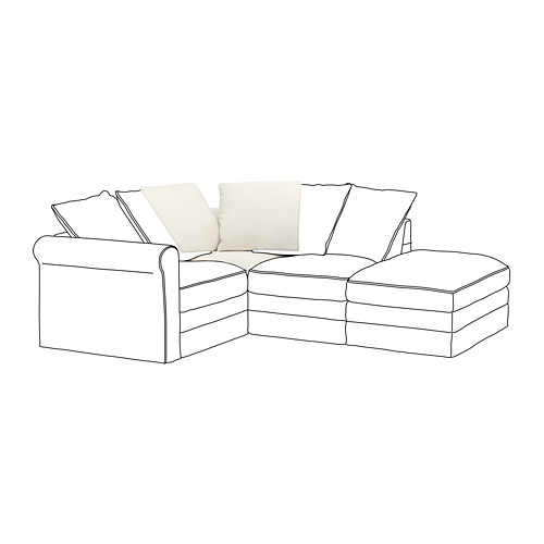 GRÖNLID - sarung untuk bagian sudut, Inseros putih | IKEA Indonesia - PE668613_S4
