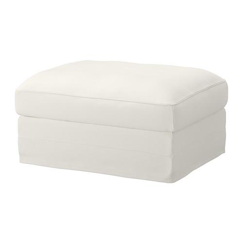 GRÖNLID - sarung u bangku kaki dg penyimpanan, Inseros putih | IKEA Indonesia - PE668611_S4