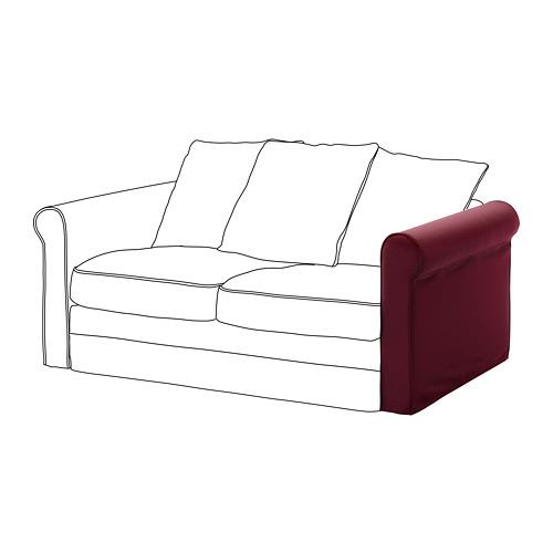 GRÖNLID - sarung untuk sandaran lengan, Ljungen merah tua | IKEA Indonesia - PE668621_S4