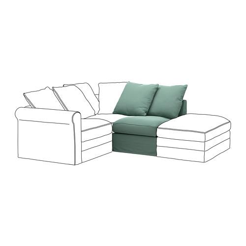 GRÖNLID - sarung untuk 1 bagian dudukan, Ljungen hijau muda   IKEA Indonesia - PE668622_S4