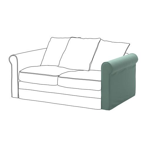 GRÖNLID - sarung untuk sandaran lengan, Ljungen hijau muda | IKEA Indonesia - PE668628_S4