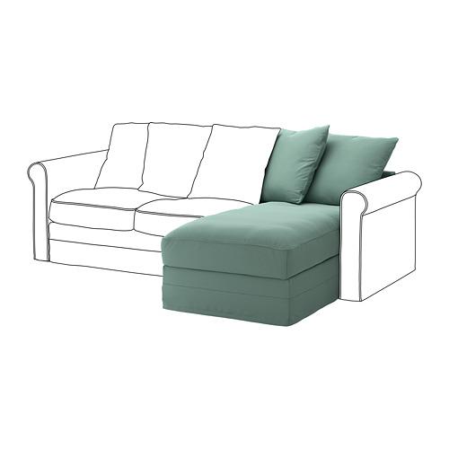 GRÖNLID - sarung untuk bagian sofa-chaise, Ljungen hijau muda | IKEA Indonesia - PE668626_S4