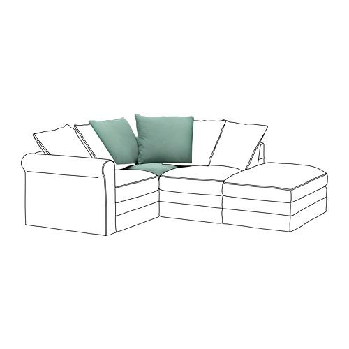 GRÖNLID - sarung untuk bagian sudut, Ljungen hijau muda   IKEA Indonesia - PE668627_S4