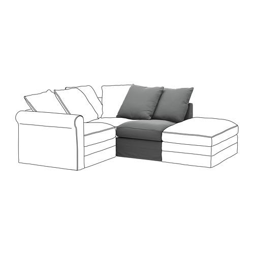 GRÖNLID - sarung untuk 1 bagian dudukan, Ljungen abu-abu medium   IKEA Indonesia - PE668630_S4