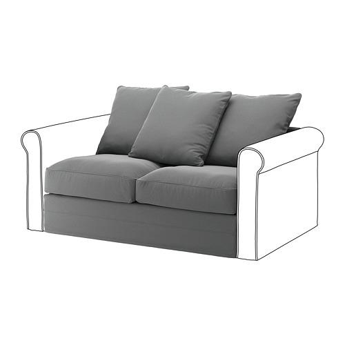 GRÖNLID - sarung untuk bagian 2 dudukan, Ljungen abu-abu medium   IKEA Indonesia - PE668631_S4