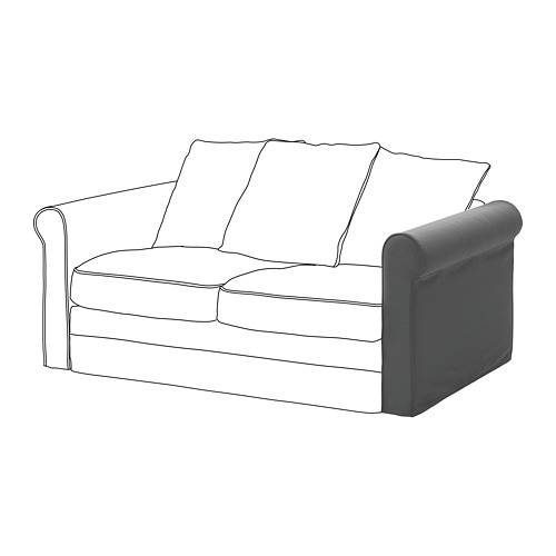 GRÖNLID - sarung untuk sandaran lengan, Ljungen abu-abu medium | IKEA Indonesia - PE668633_S4