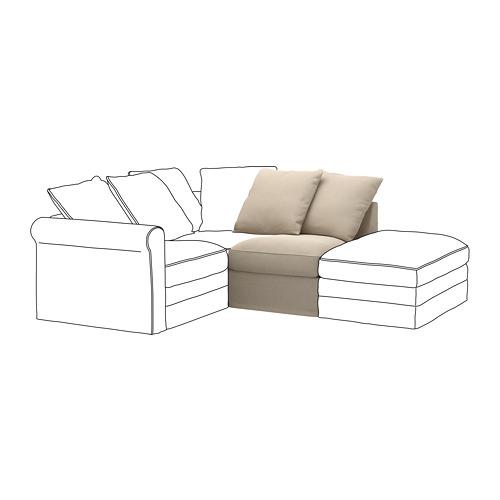 GRÖNLID - sarung untuk 1 bagian dudukan, Sporda alami | IKEA Indonesia - PE668643_S4