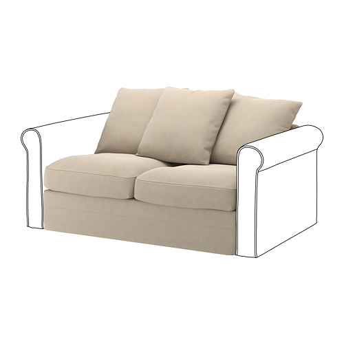 GRÖNLID - sarung untuk bagian 2 dudukan, Sporda alami | IKEA Indonesia - PE668644_S4