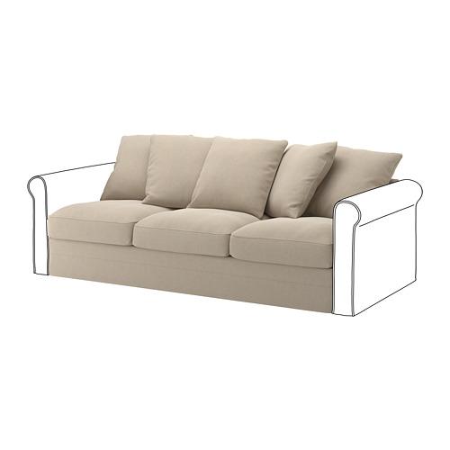 GRÖNLID - sarung untuk bagian 3 dudukan, Sporda alami   IKEA Indonesia - PE668645_S4