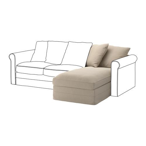 GRÖNLID - sarung untuk bagian sofa-chaise, Sporda alami | IKEA Indonesia - PE668647_S4