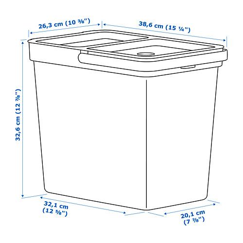 HÅLLBAR - tempat sampah dg tutup, abu-abu muda, 22 l   IKEA Indonesia - PE758448_S4