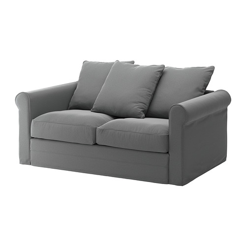 GRÖNLID - sarung untuk sofa 2 dudukan, Ljungen abu-abu medium | IKEA Indonesia - PE668734_S4