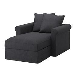 GRÖNLID - Chaise longue, Sporda dark grey