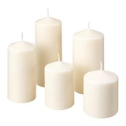 FENOMEN - Lilin blok tanpa aroma, set isi 5, alami